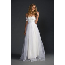 Luxo: Vestido Noiva Boho Chic Renda Francesa Tule Sob Medida