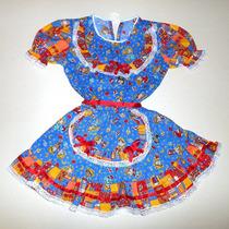Vestido Infantil Caipira Para Quadrilha De Festa Junina