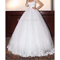 Vestido De Noiva Princesa Tule E Renda