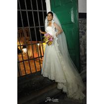 Vestido De Noiva De Renda Francesa!!! Perfeito!!!