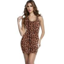 Vestido Casual Curto Onça Oncinha Tigresa Modelo Regata !!!