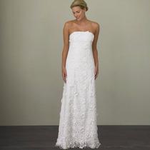 Luxo: Vestido De Noiva Em Renda Guipir Tomara Que Caia