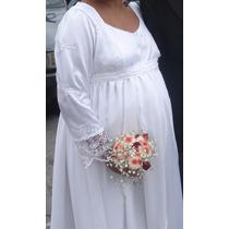 Vestido De Noiva P/ Gestantes/plus Size, 44/46, Casa Assuf