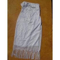 Vestido Tubinho Branco Reveillon Renda Tomara Que Caia (m)