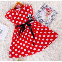 Vestido Fantasia Minnie - Pronta Entrega