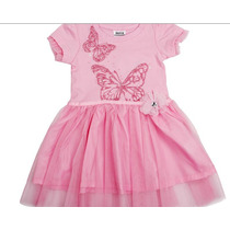 Vestido Rosa Com Borboletas (estilo Bailarina) Infantil
