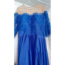 Vestido De Festa Para Mãe/madrinha Da Noiva, Em Musseline E