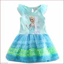 Vestido Frozen Elsa De Baile - Pronta Entrega