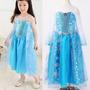 Vestido Festa Filme Frozen Elsa Luxo Lançamento Menor Preço