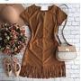 Lindo Vestido Suede Chamua Camurça Outono Inverno 2016