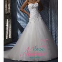 Vestido Noiva Maravilhoso Fanny Cauda Novo Pronta Entrega
