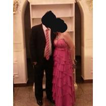 Vestido Festa Longo Casamento Formatura Pink Rosa