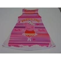 Vestido Infantil Peppa Pig 6 A 10 Anos