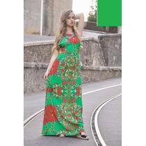 Vestido Longo Linho - Várias Cores