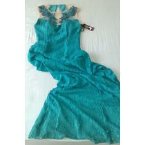 Vestido Longo Yunina Com Echarpe - Cor Verde Água