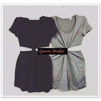 Vestido Feminino Com Nó Nozinho Vestidos Moda Blogueira