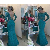 Vestido Renda Perolas E Tule - Formatura Noiva Debutante