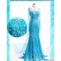 Fantasia Frozen Elsa Luxo Adulto Pronta Entrega
