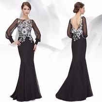 Elegante Vestido Festa Ever-pretty. Com Renda. Importado!!!