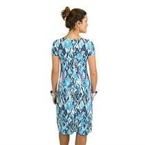 Vestido Estampado Manga Curta Senhora Jersey 46 48 50 52