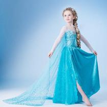 Vestido Fantasia Frozen Infantil Pronta Entrega Frete Gratis