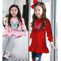 Conjunto Infantil Menina Minnie Importado Pronta Entrega