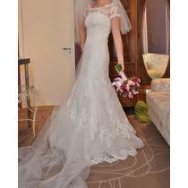 Vestido De Noiva Semi Novo!! 1 Vez Rosa Clara - Belissimo!!