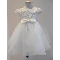 Vestido Branco Bordado Dama De Honra