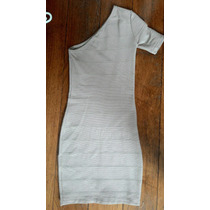 Vestido Curto Bandagem Nude/bege Tamanho P