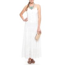 Vestido Branco Lese Longo
