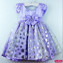 Vestido Festa Infantil Princesa Sofia Com Tiara