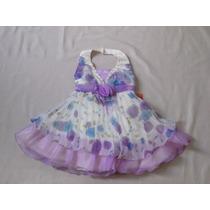 Vestido Infantil Festa/casamento/princesa Flores Tam 2 Ou 3
