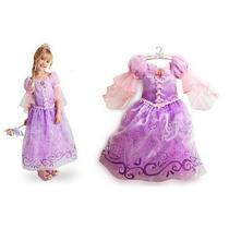 Vestido Fantasia Disney Rapunzel Enrolados - Pronta Entrega!