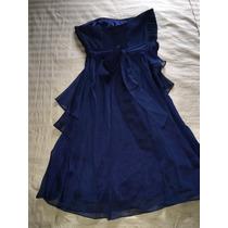 Vestido De Festa Azul Navy Tomara Que Caia