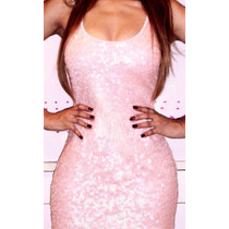 Vestido Rose Paetes Planet Girls Tam M