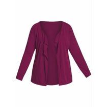 Casaquinho - Casaco / Blusa Plus Size - Inverno Gordinhas