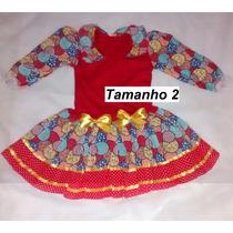 Vestido Caipira Infantil Festa Junina Julina São João 2 A 14