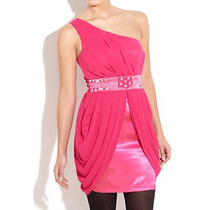 Vestido De Festa Rosa Pink Com Miçangas Importado