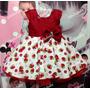 Vestido Infantil Moranguinho - Tam. 1 / 3