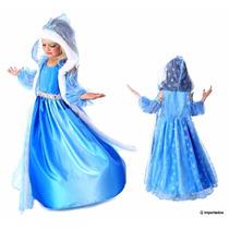 Vestido Fantasia Elsa Frozen! 3 Pçs Promoção Pronta Entrega!