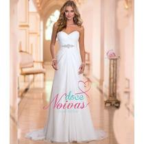 Vestido De Noiva Elegante Praia Leve Pronta Entrega Novo