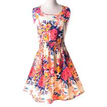 Vestido Primavera Verão Florido Lindo Branco Pront Entrega M