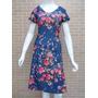 Vestido Moda Evangélica Executiva 2 Estampas - Pura Flor