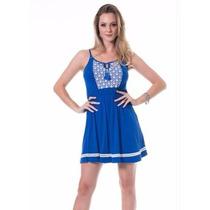 Vestido Leve Azul Promoção P Á Gg