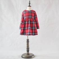 Vestido Xadrex Infantil Outono / Inverno Manga Longa