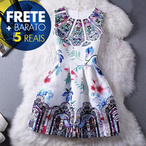 Vestidos Femininos Curto Panicat Festa 2015 Lindos Rodados
