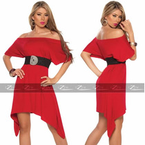 Vestidos Feminino Malha Plus Size Panicats Gordinha Ombro