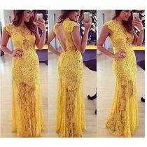 Vestido Longo - Festa - Casamento - Renda Gripir - Moda 2015