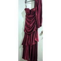 Vestido Longo Vermelho Cetim