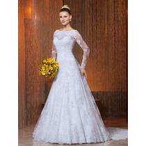 Vestido Noiva Importado Sob Medida - Evasê Cauda Removível